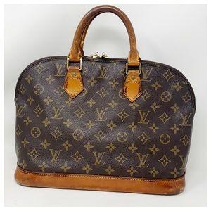 Authentic Louis Vuitton Alma Satchel Bag